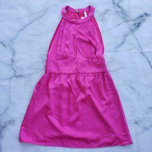 Zara satin halter mini dress m nwt pink